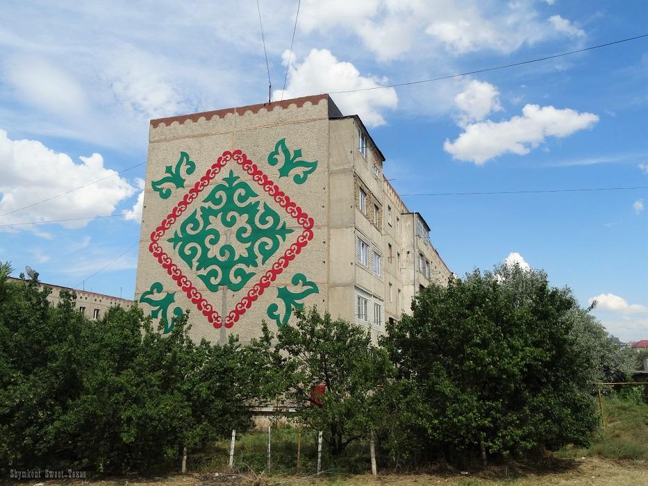 Façades_Tomengi Otyrar_Fresque rouge et verte