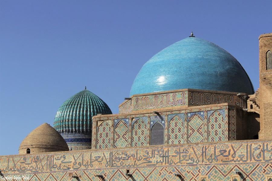Turkestan_Mausolée Ahmed Yassawi_Dômes