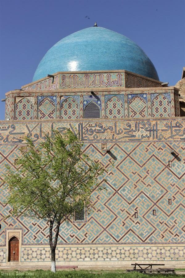 Turkestan_Mausolée Ahmed Yassawi_Façade latérale