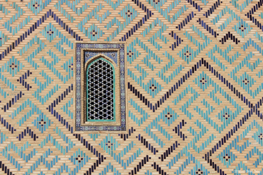 Turkestan_Mausolée Ahmed Yassawi_Fenêtre façade latérale