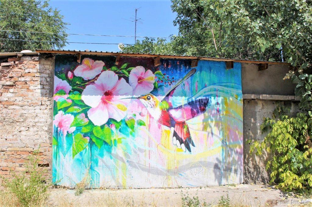 L'attribut alt de cette image est vide, son nom de fichier est Шымкент-Казахстан-Граффити-Колибри-1024x682.jpg.