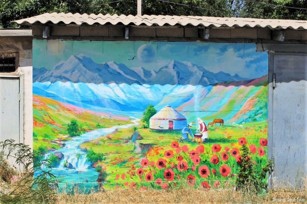 L'attribut alt de cette image est vide, son nom de fichier est Shymkent-graffiti-Paysage-Kazakhstan-1024x682.jpg.