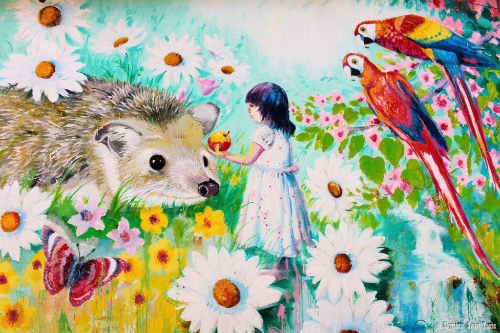 L'attribut alt de cette image est vide, son nom de fichier est Wall-painting-Shymkent-Kazahstan-1024x682.jpg.